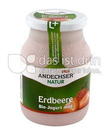 Produktabbildung: Andechser Natur Bio-Jogurt mild, Erdbeere 3,7% 500 g