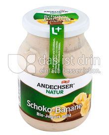 Produktabbildung: Andechser Natur Bio-Jogurt mild, Schoko-Banane 3,7% 500 g