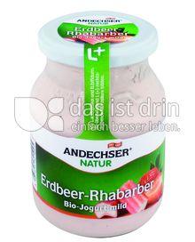 Produktabbildung: Andechser Natur Bio-Jogurt mild, Erdbeer-Rhabarber 3,7% 500 g