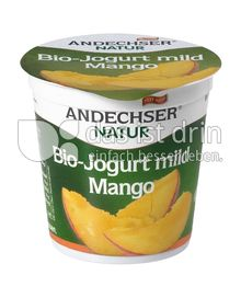 Produktabbildung: Andechser Natur Bio-Jogurt mild, Mango 3,7% 150 g