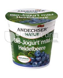 Produktabbildung: Andechser Natur Bio-Jogurt mild, Heidelbeere 3,7% 150 g