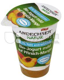 Produktabbildung: Andechser Natur Bio-Jogurt mild auf Pfirsich-Mango 0,1% 180 g