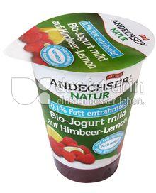 Produktabbildung: Andechser Natur Bio-Jogurt mild auf Himbeer-Lemon 0,1% 180 g