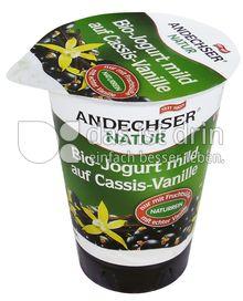 Produktabbildung: Andechser Natur Bio-Jogurt mild auf Cassis-Vanille 3,7% 180 g