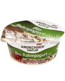 Produktabbildung: Andechser Natur Bio-Rahmjogurt mild, Milchschokolade 10% 150 g