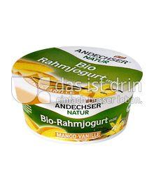 Produktabbildung: Andechser Natur Bio-Rahmjogurt mild, Mango-Vanille 10% 150 g