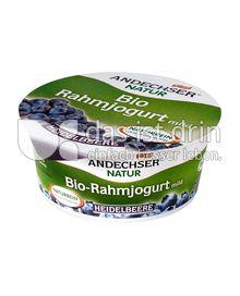 Produktabbildung: Andechser Natur Bio-Rahmjogurt mild, Heidelbeere 10% 150 g