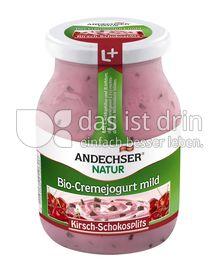 Produktabbildung: Andechser Natur Bio-Cremejogurt mild, Kirsch-Schokosplits 7,5% 500 g