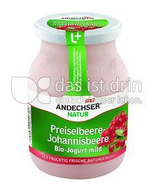 Produktabbildung: Andechser Natur Bio-Jogurt mild, Preiselbeere-Johannisbeere, 3,7% 500 g