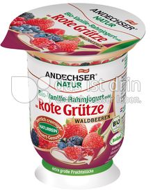 Produktabbildung: Andechser Natur Vanille-Rahmjogurt an Roter Grütze Waldbeeren 125 g