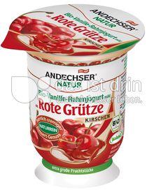 Produktabbildung: Andechser Natur Vanille-Rahmjogurt an Roter Grütze Kirschen 125 g