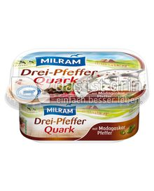 Produktabbildung: MILRAM Drei-PfefferQuark 200 g
