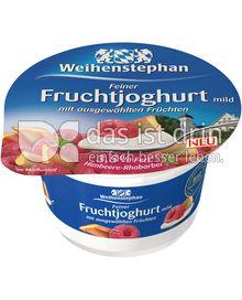 Produktabbildung: Weihenstephan Feiner Fruchtjoghurt mild Himbeere-Rhabarber 150 g