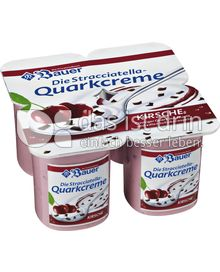 Produktabbildung: Bauer Stracciatella-Quarkcreme Kirsche 500 g