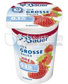 Produktabbildung: Bauer Der grosse Bauer 0,1% Joghurt Erdbeere 250 ml