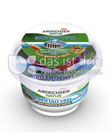 Produktabbildung: Andechser Natur Bio-Sahnejogurt griechischer Art mit Honig & Nuss 200 g
