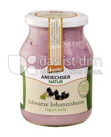 Produktabbildung: Andechser Natur demeter Jogurt Schwarze Johannisbeere 500 g
