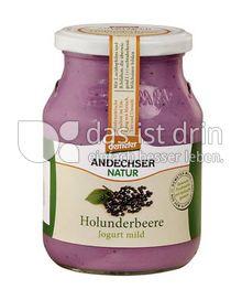 Produktabbildung: Andechser Natur demeter Jogurt mild Holunderbeere 500 g