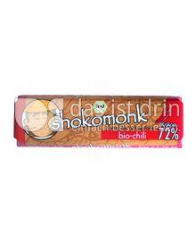 Produktabbildung: shokomonk Extrabitter Schokolade bio-chili 50 g