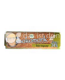 Produktabbildung: shokomonk Vollmilch Schokolade bio-ingwer 50 g