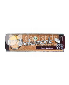 Produktabbildung: shokomonk Zartbitter Schokolade bio-kokos 50 g