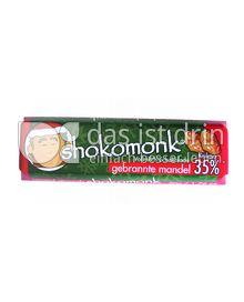 Produktabbildung: shokomonk Vollmilch Schokolade gebrannte mandel 50 g