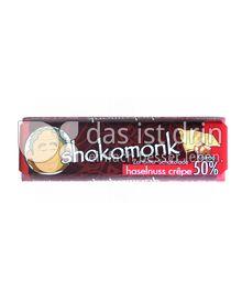 Produktabbildung: shokomonk Zartbitter Schokolade haselnuss-crêpe 50 g