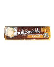 Produktabbildung: shokomonk Vollmilch Schokolade karamell 50 g