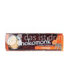 Produktabbildung: shokomonk Extrabitter Schokolade orange 50 g