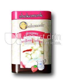 Produktabbildung: shokomonk Dragees erdbeere-sahne in weißer Schokolade 200 g