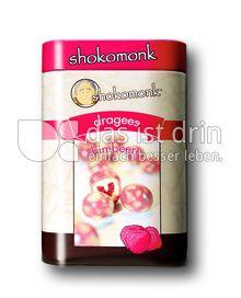 Produktabbildung: shokomonk Dragees himbeere in weißer Schokolade 200 g