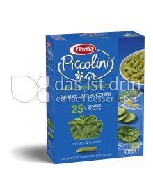Produktabbildung: Barila Piccolini Mini Penne Rigate mit Spinat und Zucchini 400 g