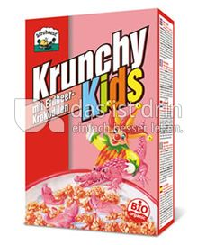 Produktabbildung: Barnhouse Krunchy Kids mit Erdbeerkrokodilen 375 g
