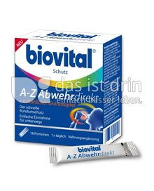 Produktabbildung: Biovital A-Z Abwehrdirekt + natürlicher Granatapfel 18 St.