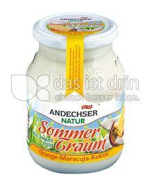 Produktabbildung: Andechser Natur Sommertraum Bio-Jogurt mild Orange-Maracuja-Kokos 500 g