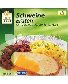 Produktabbildung: Fine Food Schweinebraten mit Spätzle und Apfelrotkohl 480 g