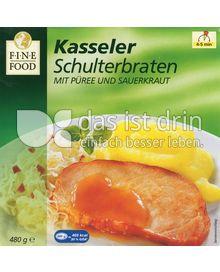 Produktabbildung: Fine Food Kasseler Schulterbraten mit Püree und Sauerkraut 480 g