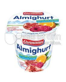 Produktabbildung: Ehrmann Almighurt Himbeere-Orange-Granatapfel 150 g