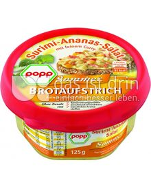 Produktabbildung: Popp Surimi-Ananas-Salat mit feinem Curry 125 g