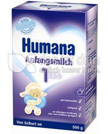 Produktabbildung: Humana Anfangsmilch 1 500 g