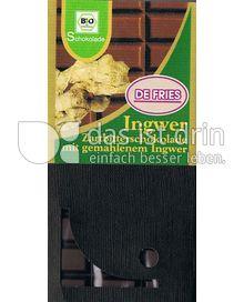 Produktabbildung: Schokolade Zarbitterschokolade mit gemahlenem Ingwer 100 g
