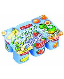 Produktabbildung: Monsterbacke Fruchtquark Banane/Erdbeere/Aprikose