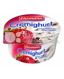 Produktabbildung: Ehrmann Cremighurt Garten-Erdbeere Stracciatella