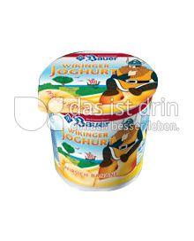 Produktabbildung: Bauer Wikinger-Joghurt Pfirsich-Banane 125 g