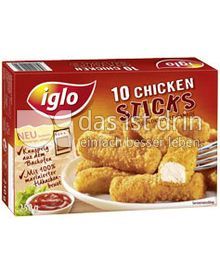 Produktabbildung: iglo 10 Chicken Sticks 250 g