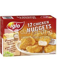 Produktabbildung: iglo 12 Chicken Nuggets 250 g