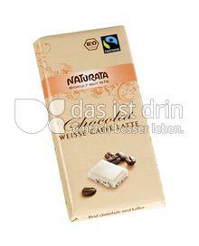 Produktabbildung: Naturata Chocolat weiße Café Latte 100 g