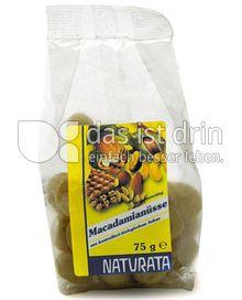 Produktabbildung: Naturata Macadamianüsse,natur 75 g