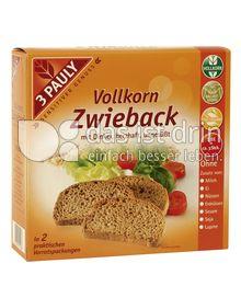 Produktabbildung: 3 PAULY Vollkorn Zwieback mit Dinkel 200 g