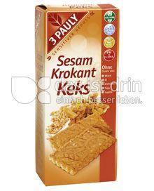 Produktabbildung: 3 PAULY Vollkorn Sesam Krokant Keks 150 g